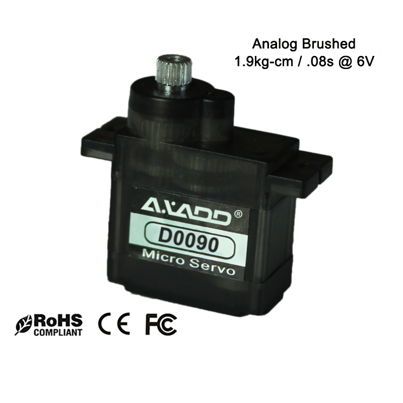 D0090 CE Approved Analog Servo MG 1.6kg/.08sec/9g Micro Servo Metal Gear with Ball Bearing 9g Analog Servo